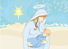 Madonna y niño Jesús Imagenes de archivo