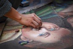 Madonnari-Straßenkunst Stockbilder