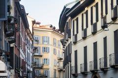 Madonnina street in Milan Stock Image