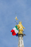 Madonnina on top of the Duomo in Milan, Italy Stock Photos