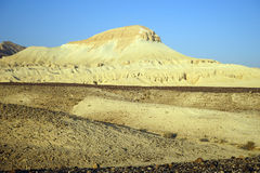 Mador hill. Sandstone Mador hill in Negev desert in Israel Royalty Free Stock Images