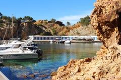 Madrague de Gignac nära Marseille, Frankrike Arkivfoto