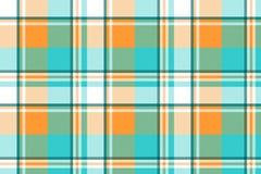 Madras check plaid light seamless pattern. Vector illustration Vector Illustration