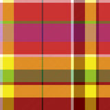 Madras colored plaid diagonal fabric texture seamless pattern. Vector illustration Royalty Free Stock Image