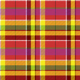 Madras colored plaid diagonal fabric texture seamless pattern. Vector illustration Royalty Free Stock Images