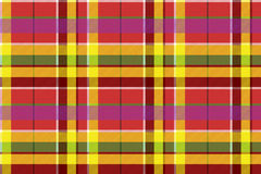 Madras colored plaid diagonal fabric texture seamless pattern. Vector illustration Royalty Free Stock Photo