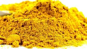 Madras-Curry auf einer Drehscheibe stock footage