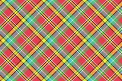 Madras diagonal plaid pixeled seamless background Stock Photography