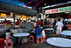 Madras Lane in Petaling Street. Kuala Lumpur,Malaysia - February 16, 2014 : There are different type of local delights stalls in Madras Lane in Petaling Street royalty free stock photos
