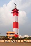 Madras Light House. The Madras Light House is a lighthouse facing the Bay of Bengal on the east coast of the Indian Subcontinent. It is a famous landmark on the Royalty Free Stock Photos