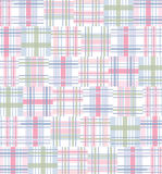 Madras, Quilt Pattern Background - Pink, Green, Blue Plaid Stock Photos