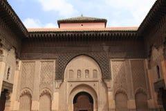 Madrasa Ben Youssef Royaltyfria Bilder