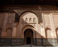 Madrasa Ben Youssef Arkivbilder