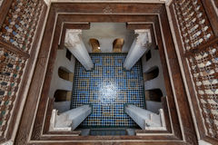 Madrasa Ben Youssef Royaltyfria Foton