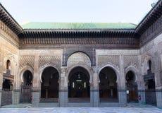 Madrasa Bou Inania, Fes, Marocco, 2017 immagine stock