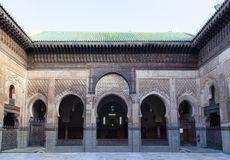Madrasa Bou Inania, fez, Maroko, 2017 obraz stock