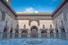 Madrasa Bou Inania in Fez, Morocco Stock Images