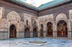 Madrasa Bou Inania in Fez, Morocco Royalty Free Stock Photo