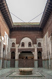 Madrasa Bou Inania interior in Meknes, Morocco. Madrasa Bou Inania is acknowledged as an excellent example of Marinid architecture in Meknes Stock Photo