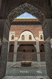 Madrasa Bou Inania interior in Meknes, Morocco Royalty Free Stock Images