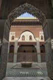 Madrasa Bou Inania wnętrze w Meknes, Maroko Obrazy Royalty Free
