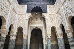 Madrasa de Salé, Rabat-vente, Maroc Image stock