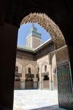 Madrasa en Fes, Marruecos Fotos de archivo libres de regalías