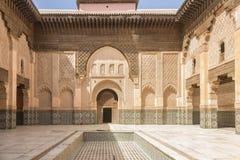 Madrasa i Marraketch Arkivbild