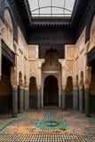 Madrasa Marinid von Salé, Rabat-Verkauf, Marokko lizenzfreies stockbild
