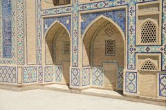 Madrasah in Bukhara Stockbild