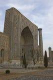 Madrasah på den Registan fyrkanten, Samarkand, Uzbekistan Arkivfoto