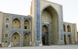 Madrasah on the Silk Road. Madrasah in Bukhara, Uzbekistan, on the Silk Road Royalty Free Stock Photos