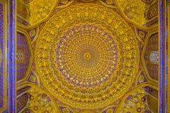 Madrasah Tilla-Kari inside on Registan square, Samarkand Royalty Free Stock Photos