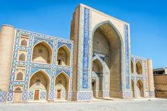 Madrassa在布哈拉,乌兹别克斯坦 库存照片