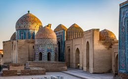 Madrassa在撒马而罕,乌兹别克斯坦 免版税库存照片