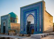 Madrassa在撒马而罕,乌兹别克斯坦 免版税库存图片