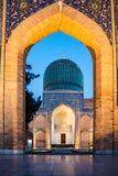 Madrassa在撒马而罕,乌兹别克斯坦 免版税图库摄影