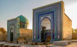 Madrassa在撒马而罕,乌兹别克斯坦 库存照片