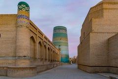 Madrassa在Khiva,乌兹别克斯坦 库存图片