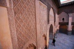 Madrassa Doorway. A doorway at the Ali Ben Youssef Madrassa in Marrakesh, Morocco Royalty Free Stock Photography
