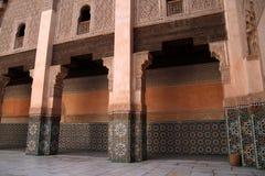 Madrassa en Marrakesh Imágenes de archivo libres de regalías