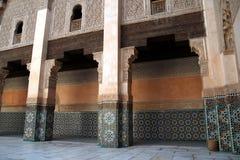 Madrassa en Marrakesh Foto de archivo libre de regalías