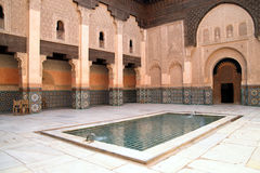 Madrassa en Marrakesh Fotografía de archivo libre de regalías