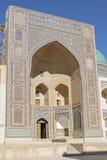 Madrassa Miri Arab, Bukhara, Uzbekistan Arkivfoton