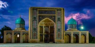 Madrassa in Tashkent, Uzbekistan. Storm brewing over madrassa in Tashkent, Uzbekistan Stock Photos