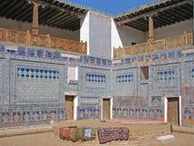 Madrassah do pátio em Khiva, Usbequistão Fotos de Stock Royalty Free
