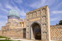 Madrassah près du bazar central à Samarkand Images stock