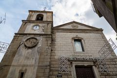 Madre 9月2018年-莫塔卡马斯特拉,西西里岛,意大利-基耶萨 库存照片