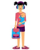 Madre adolescente ilustración del vector