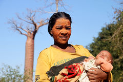 Madre africana Fotografia Stock Libera da Diritti